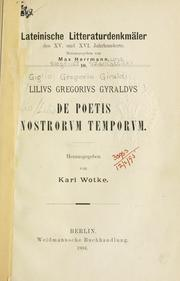 Cover of: De poetis nostrorvm temporvm