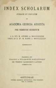 Cover of: De tribus carminibus latinis commentatio