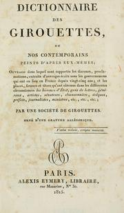 Cover of: Dictionnaire des girouettes
