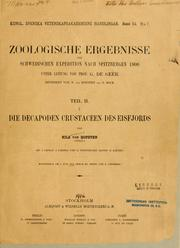 Cover of: Die Decapoden Crustaceen des Eisfjords