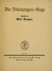 Cover of: Die Nibelungen-Sage