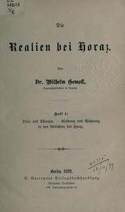 Cover of: Die Realien bei Horaz