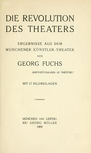 Cover of: Die Revolution des Theaters