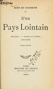 Cover of: D'un pays lointain