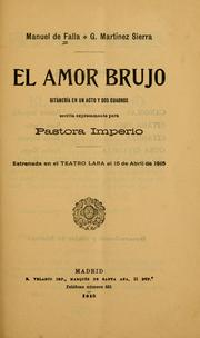 Cover of: El amor brujo