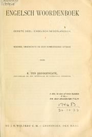 Cover of: Engelsch woordenboek