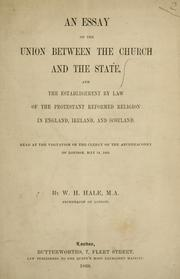 Cover of: An essay on the union between the Church and the State