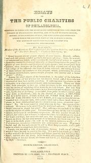 Cover of: Essays on the public charities of Philadelphia