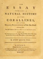 Cover of: An essay towards a natural history of the corallines