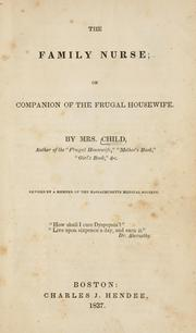 Cover of: The family nurse; or, Companion of the frugal housewife