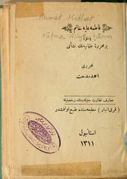 Cover of: Fatma 'Aliye hanim