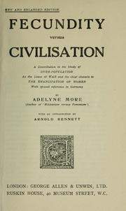 Cover of: Fecundity versus civilisation