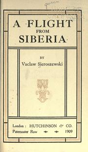 Cover of: A flight from Siberia