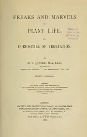 Cover of: Freaks and marvels of plant life