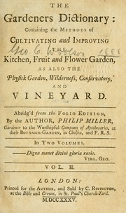 Cover of: The gardeners dictionary