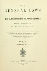 Cover of: Laws, etc. (Compiled statutes : 1921)