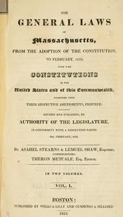 Cover of: The General Laws of Massachusetts