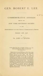 Cover of: Gen. Robert E. Lee