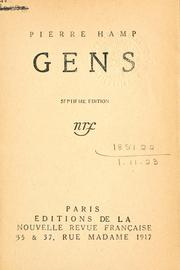 Cover of: Gens
