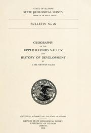 Cover of: Geography of the upper Illinois Valley and history of development