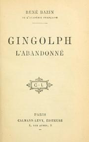Cover of: Gingolph l'abandonné
