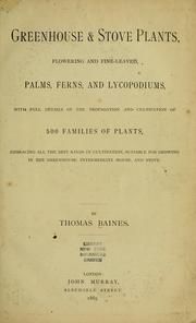 Cover of: Greenhouse & stove plants
