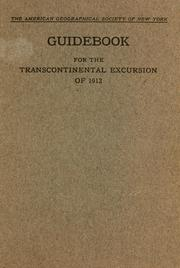 Cover of: Guidebook for the transcontinental excursion of 1912