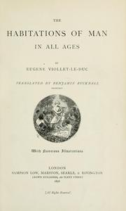 Cover of: The habitations of man in all ages