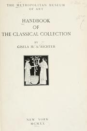 Cover of: Handbook of the classical collection