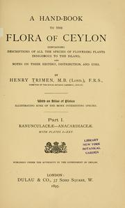 Cover of: A hand-book to the flora of Ceylon