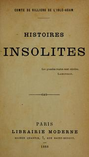 Cover of: Histoires insolites