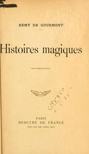 Cover of: Histoires magiques