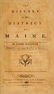Cover of: The history of the district of Maine