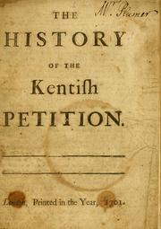 Cover of: The history of the Kentish petition