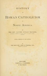 Cover of: History of Roman Catholicism in North America