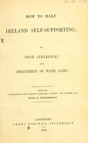 Cover of: How to make Ireland self-supporting