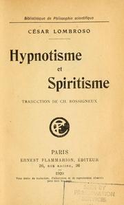 Cover of: Hypnotisme et spiritisme