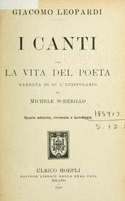 Cover of: I canti