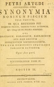 Cover of: Ichthyologiae