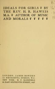 Cover of: Ideals for girls