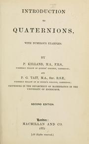 Cover of: Introduction to quaternions, with numerous examples