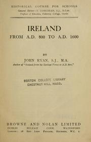 Cover of: Ireland from A.D. 800 to A.D. 1600