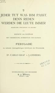 Cover of: Jeder tut was ihm passt
