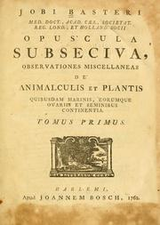 Cover of: Opuscula subseciva