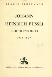 Cover of: Johann Heinrich Füssli
