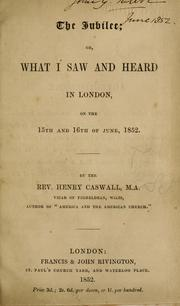 Cover of: The Jubilee, or, What I saw and heard in London