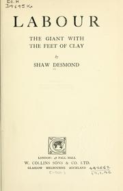 Cover of: Labour, the giant with the feet of clay