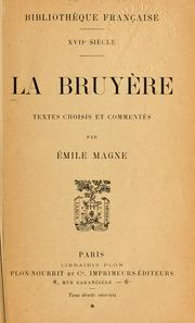Cover of: La Bruyère