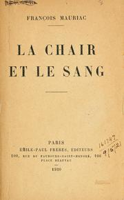 Cover of: La chair et le sang