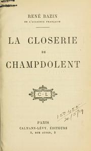 Cover of: La closerie de Champdolent